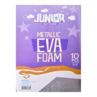 Dekorlap habosított A4 EVA 10 db ezüst metál vastagsága 2,0 mm