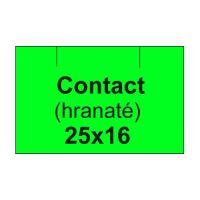 Árcímkék. CONTACT 25x16 négyzet - 1125 címke / tekercs, zöld