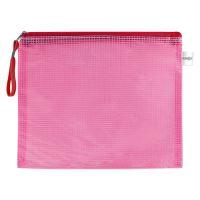 Irattasak hálós zipzáras PVC/A4, piros