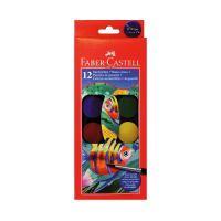 Vízfesték Faber-Castell 12 szín, 30mm