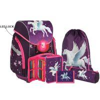 Školská taška - 6-dielny set, PRO LIGHT PREMIUM 3D Horse, LED
