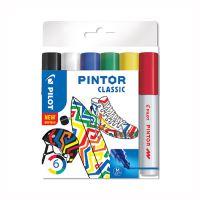 "Dekoračný popisovač PILOT ""Pintor Classic"", sada 6 ks, hrot M"