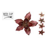 25 cm virág klippel - vegyes/1db