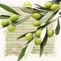 Szalvéta PAW L 33x33cm Greek Olives