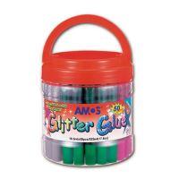 Glitteres ragasztó AMOS, 10,5 ml vegyes színek