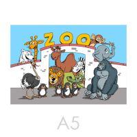 Szinező kifestő A5 LUX Zoo