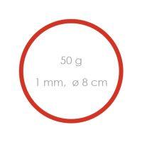 Gumi piros gyenge /1 mm, O 8 cm / /50 g/