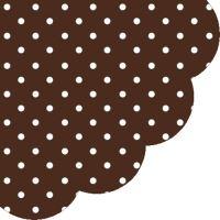 Szalvéta kerek PAW R Dots Chocolate