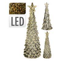 Stromček - svietiaci LED teplá biela, 35 cm zlatý