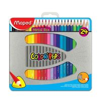 "Háromoldalú színes ceruzák MAPED ""COLOR`PEPS"" dobozban, 24 db"