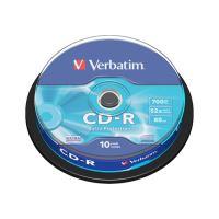 CD-R Verbatim 43437 Extra védelem, 52x, 700 MB / 80 MIN, 10 csomag