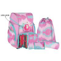 Školská taška - 7-dielny set, PRO LIGHT PREMIUM Unicorn Lila, LED