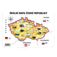 Iskolai papír térkép a Cseh Köztársaság sablon földrajzi