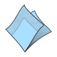 Szalvéta 2-rétegű, 33 x 33 cm világoskék [50 db]