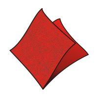 Obrúsky 33 x 33 cm červené 100 ks