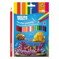 Színesceruza Ocean World háromszögű 18 db