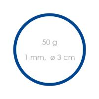 Gumi kék  /1 mm, O 3 cm/ /50g/