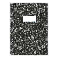 Borító notebook Schooldoo A4 fekete / 1db