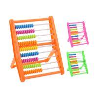 Abakusz - golyós számológép muanyag 10,5x14,5x8,5 cm, vegyes 3 szín