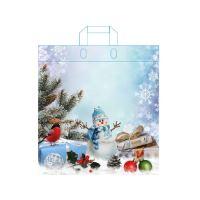 Táska fülekkel 45x39 cm, Karácsony - vegyes