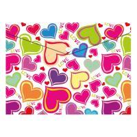 Irattartó PP patentos A4, Love Hearts