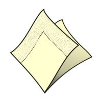 Szalvéta 2-rétegű, 33 x 33 cm bézs [50 db]