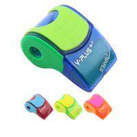 Hegyező műanyag tartályos + Radír  X09-4 Whistle
