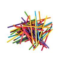 Dekoratív pálcikák  80 db kerek színkeverék