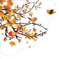 Szalvéta PAW R 32cm Autumn Birds Round
