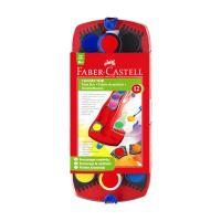 Farby vodové Faber-Castell stavebnicové 12 farieb