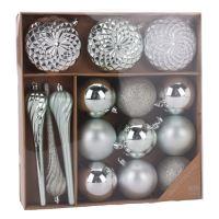 Karácsonyi dísz - PP treasu 6-16 cm, 15 db készlet