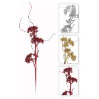 Dekorácia - Vetva s kvetmi 68 cm, mix/1ks