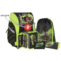 Školská taška - 6-dielny set, PRO LIGHT PREMIUM 3D Traktor, LED