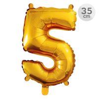 Számlufi szülinapra 35 cm - 5, arany