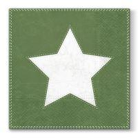 Obrúsky PAW L 33x33cm Star Green