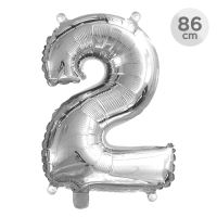 Számlufi szülinapra 86 cm - 2, ezüst