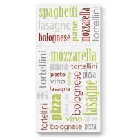 Vrecká na príbory PAW AIRLAID 40x40cm Italian Food Green, 25 ks/bal