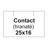 Árcímkék. CONTACT 25x16 négyzet - 1125 címke / tekercs, fehér