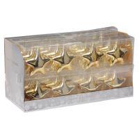 Karácsonyfadísz - PP arany csillagok 10 cm, 2 db készlet