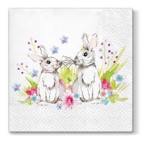 Szalvéta  PAW L 33x33 cm Bunnies in Love