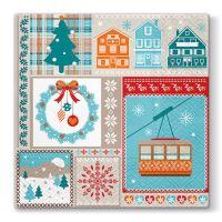 Szalvéta PAW L 33x33cm Winter Holiday