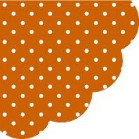 Szalvéta kerek PAW R Dots Terracotta