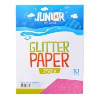 Dekor karton  A4 10 db rózsaszín glitter 250 g