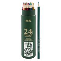 24 db színes ceruza készlet hatszögletű tokban M&G