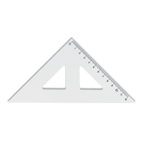KOH-I-NOOR háromszög átlátszó, 12 cm-es jelöléssel