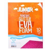 Dekorlap habosított A4 EVA 10 db rózsaszín öntapadós glitter 2,0 mm