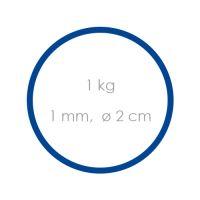 Gumi kék gyenge /1 mm, O 2 cm/ /1kg/