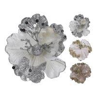 Dekorácia - Kvet 15x12 cm, mix/1ks