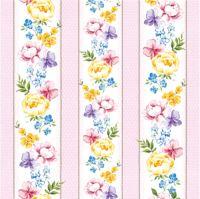 Obrúsky PAW L 33x33cm Vernal Flowers rosa