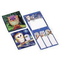 Jegyzettömb + oldaljelölő öntapadós 62x69 mm - Owl Design